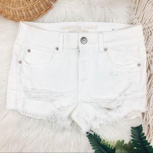 American Eagle • High Rise Shortie Shorts